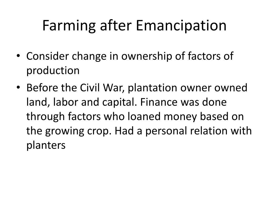 Farming after Emancipation