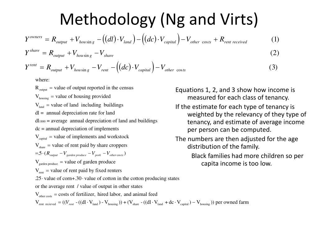 Methodology (Ng and Virts)