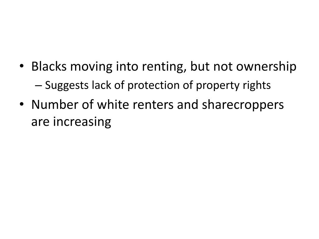 Blacks moving into renting, but not ownership