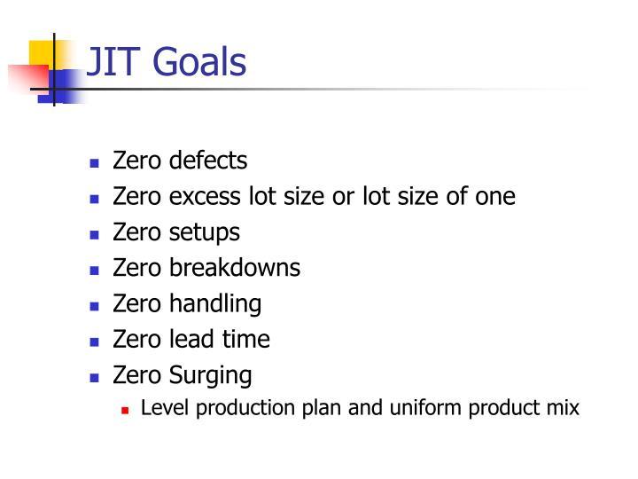 JIT Goals