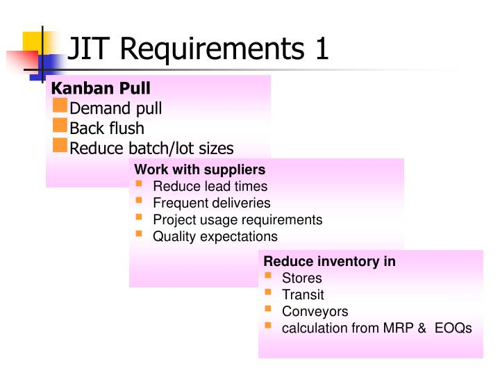 JIT Requirements 1