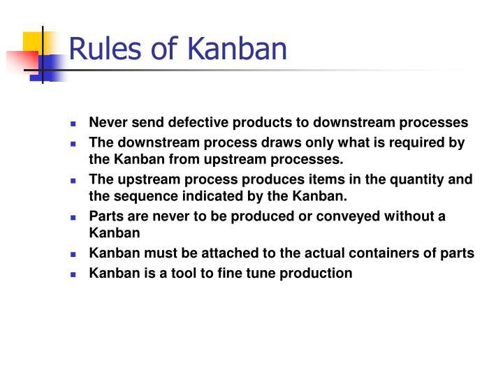 Rules of Kanban