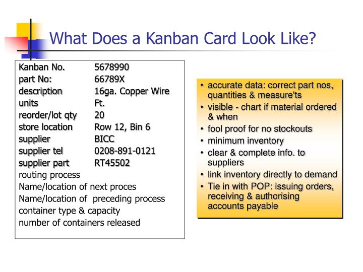 What Does a Kanban Card Look Like?
