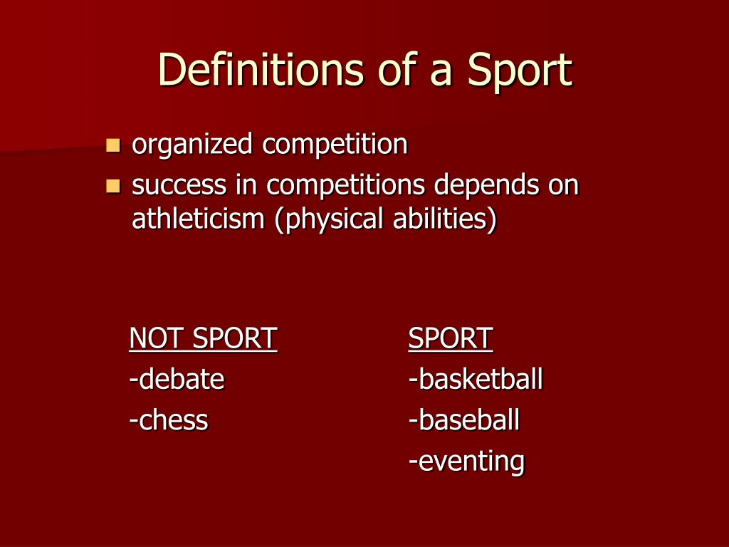 Definitions of a Sport
