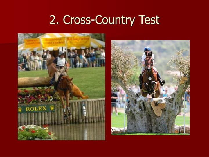 2. Cross-Country Test