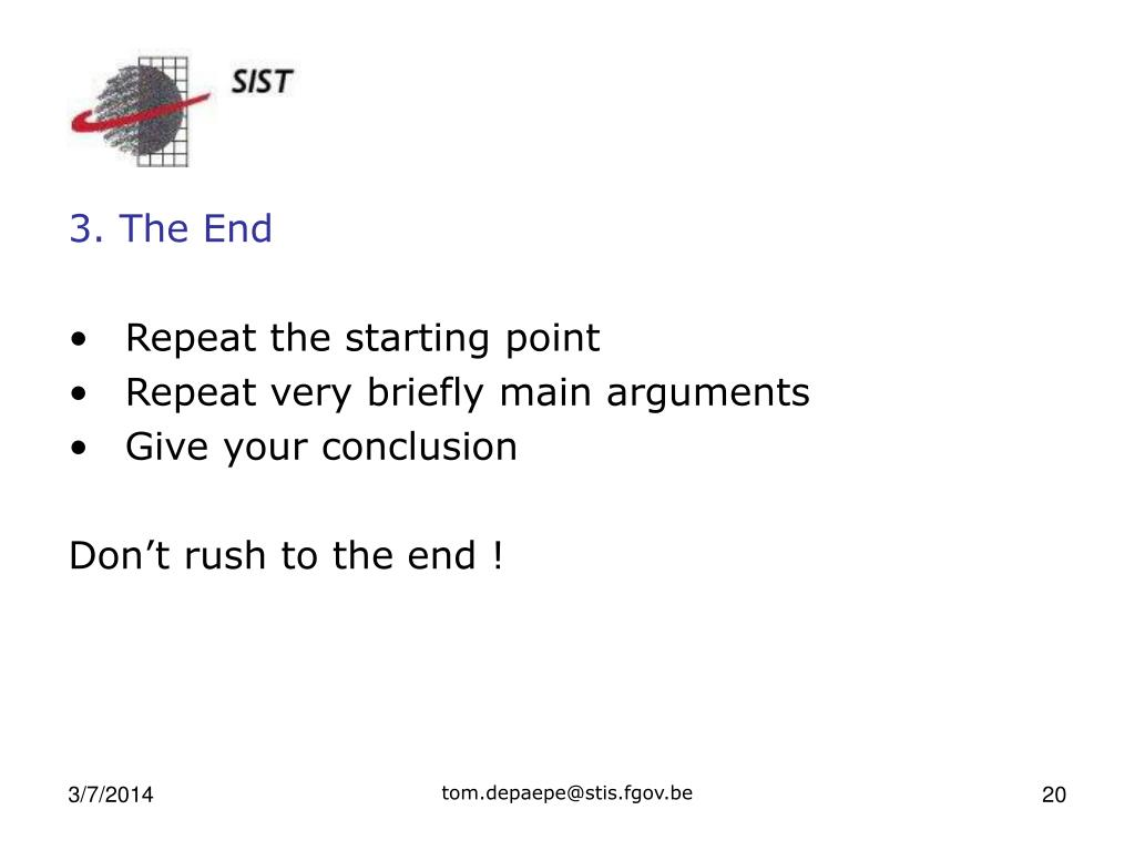 3. The End