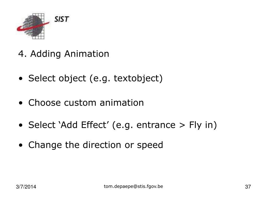 4. Adding Animation