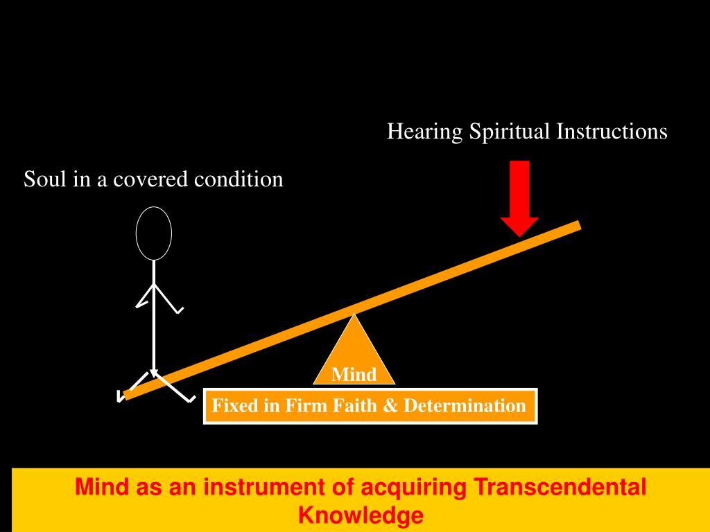 Hearing Spiritual Instructions