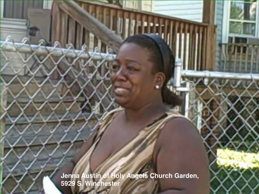 Jenna Austin of Holy Angels Church Garden,