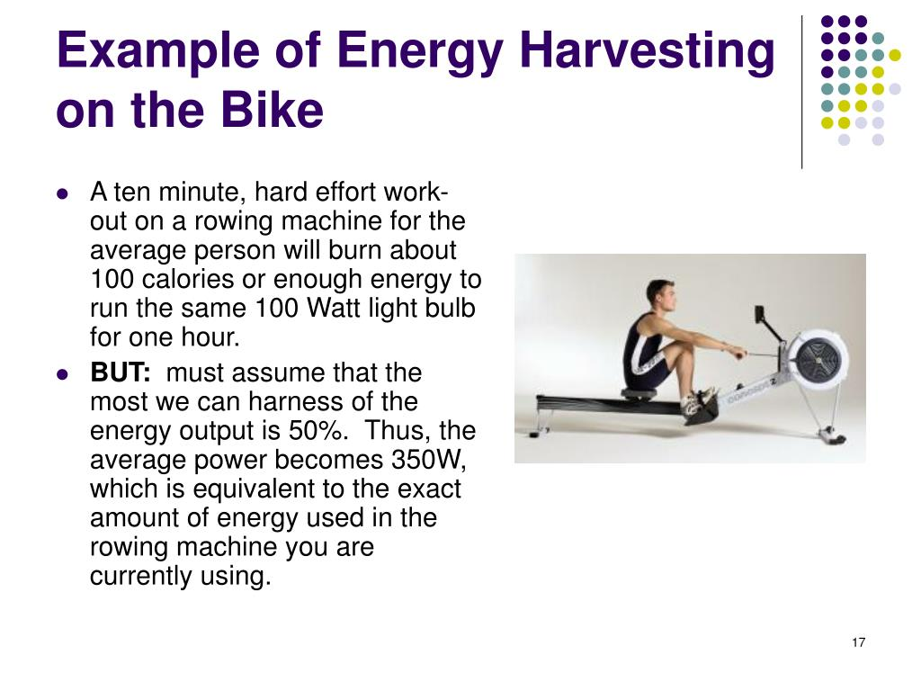 Example of Energy Harvesting on the Bike