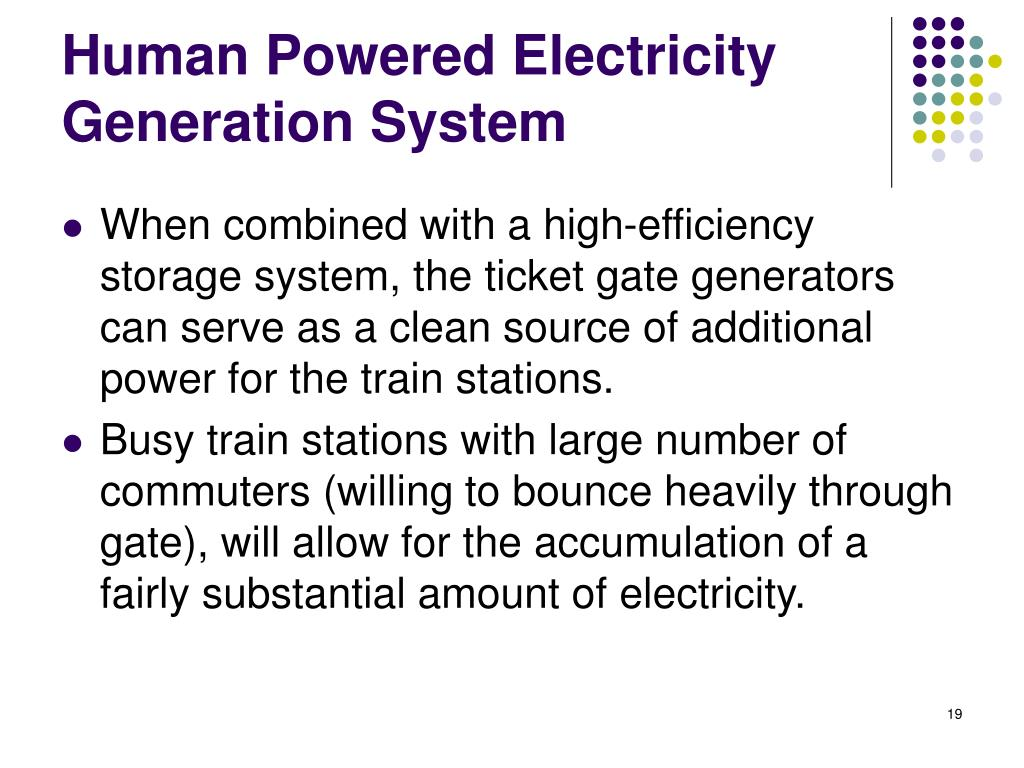 Human Powered Electricity Generation System