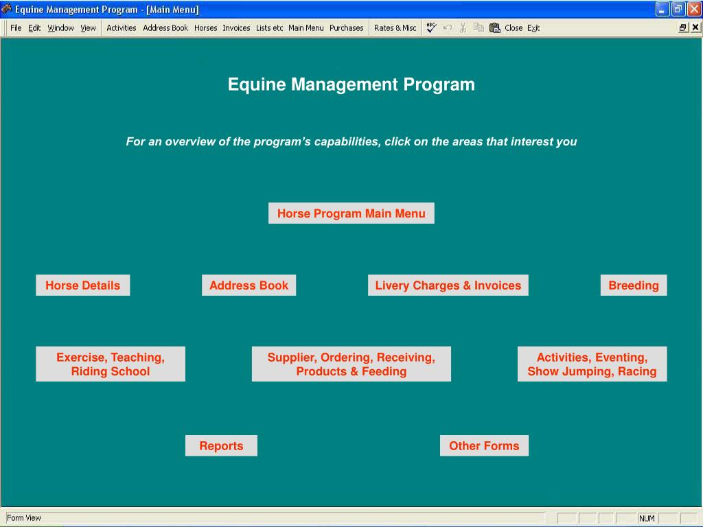 Equine Management Program
