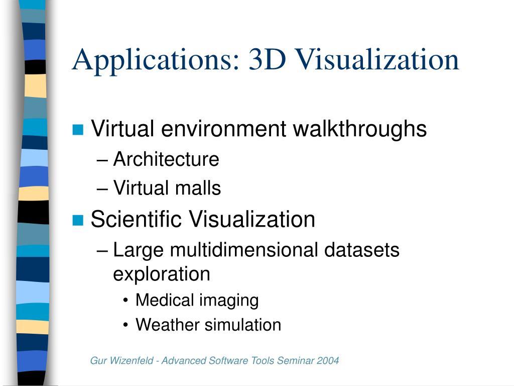 Applications: 3D Visualization