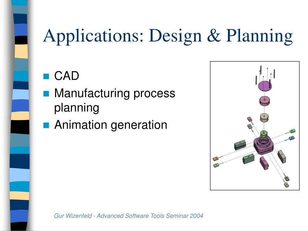 Applications: Design & Planning