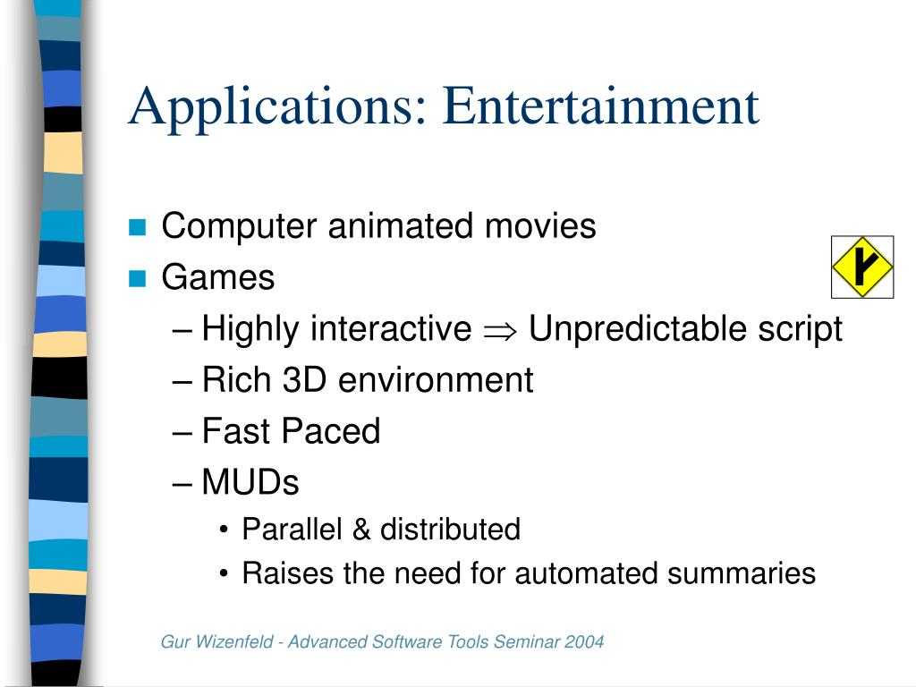 Applications: Entertainment