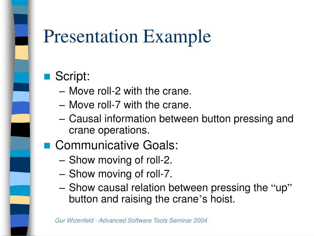 Presentation Example