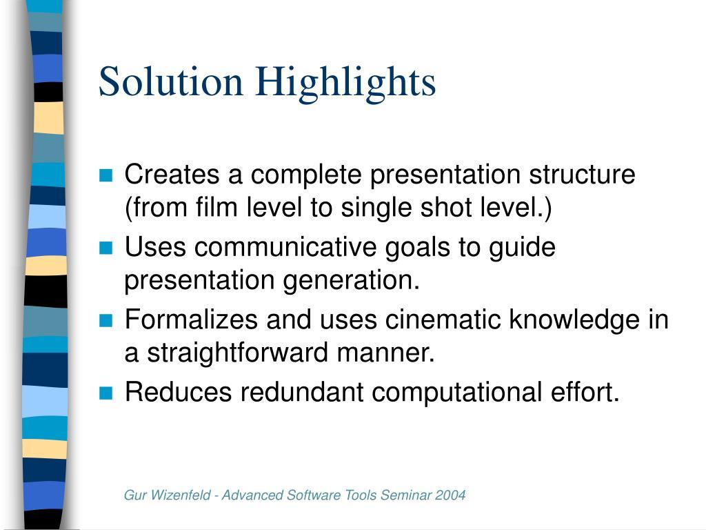 Solution Highlights