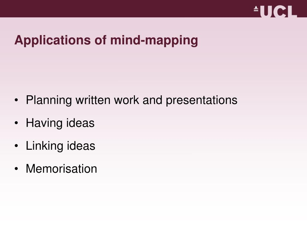 Applications of mind-mapping