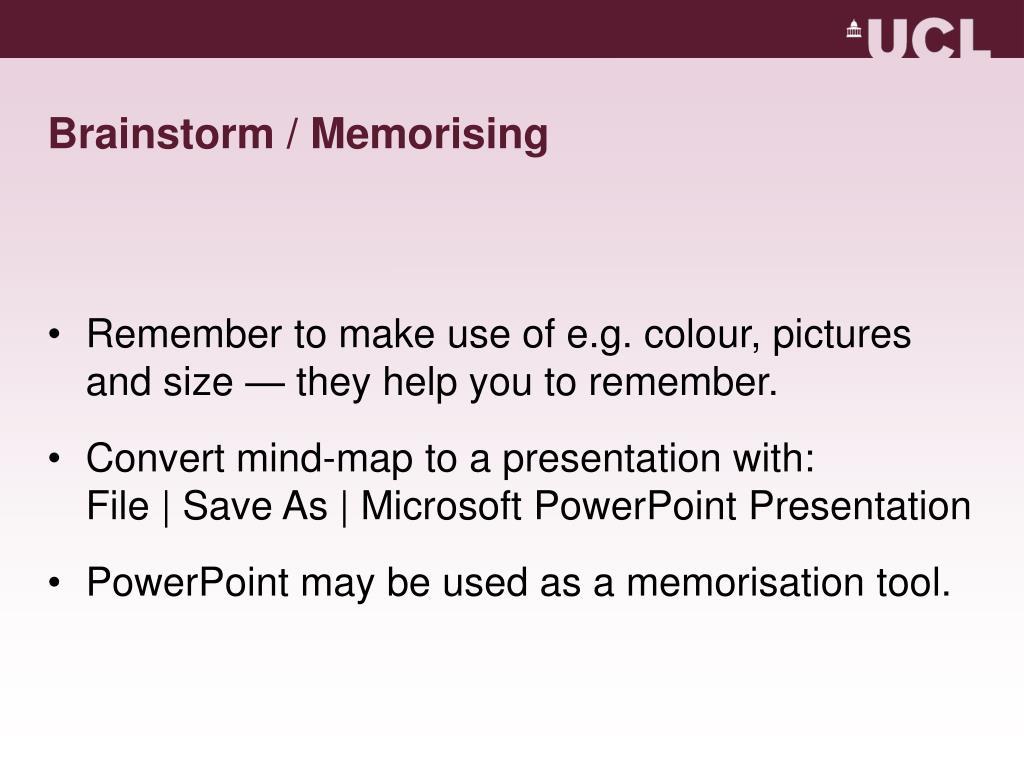 Brainstorm / Memorising