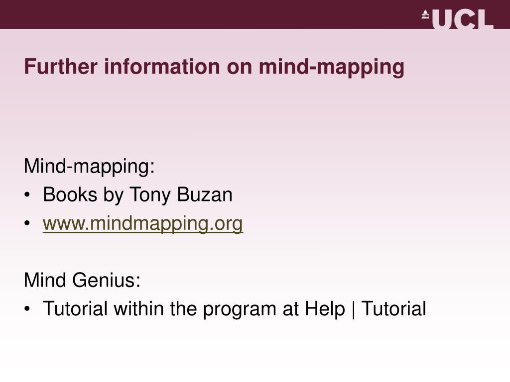 Further information on mind-mapping