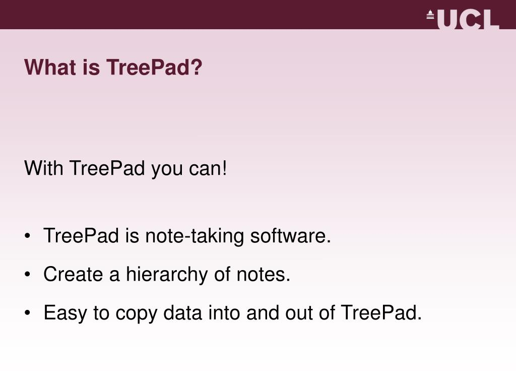 What is TreePad?
