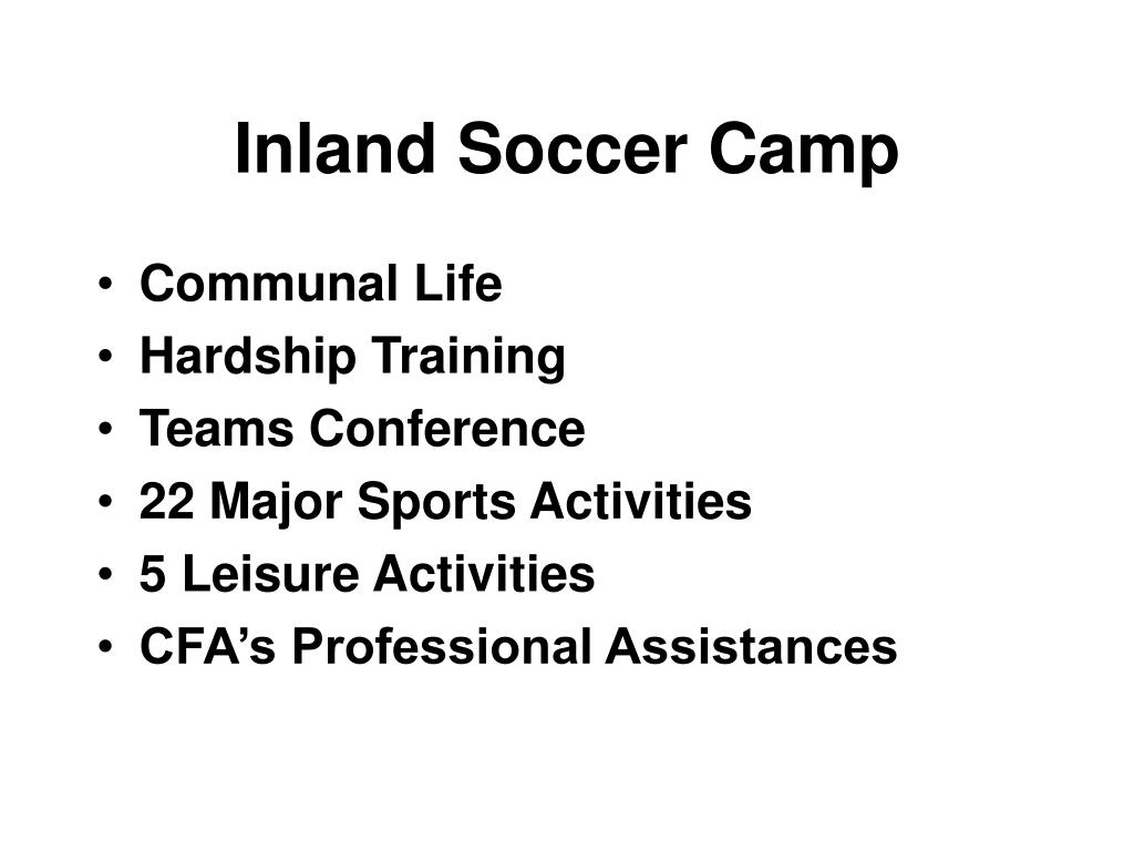 Inland Soccer Camp