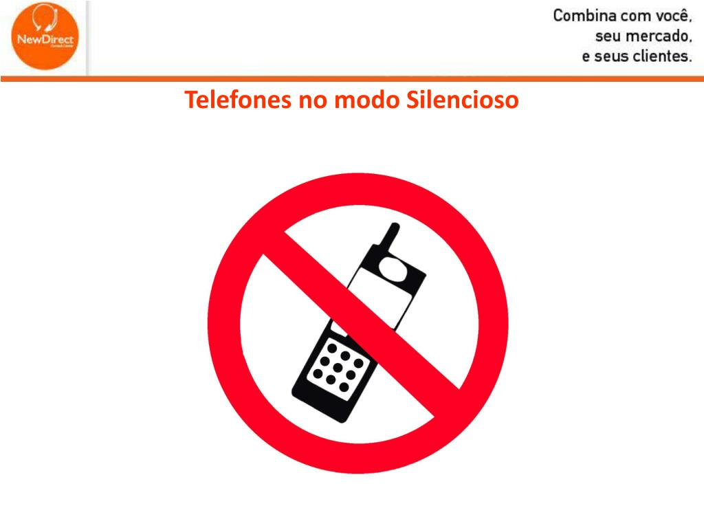Telefones no modo Silencioso