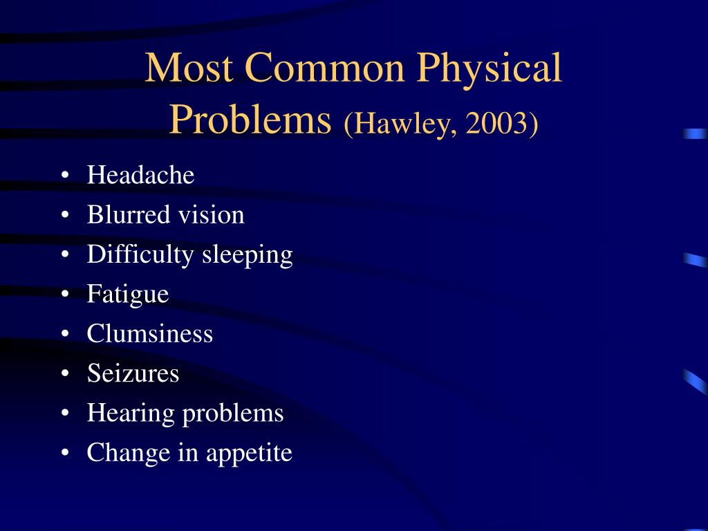 most common physical problems headaches essay