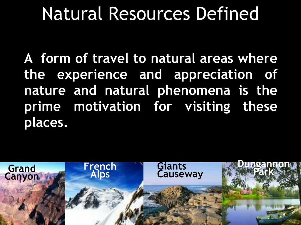 Natural Resources Defined
