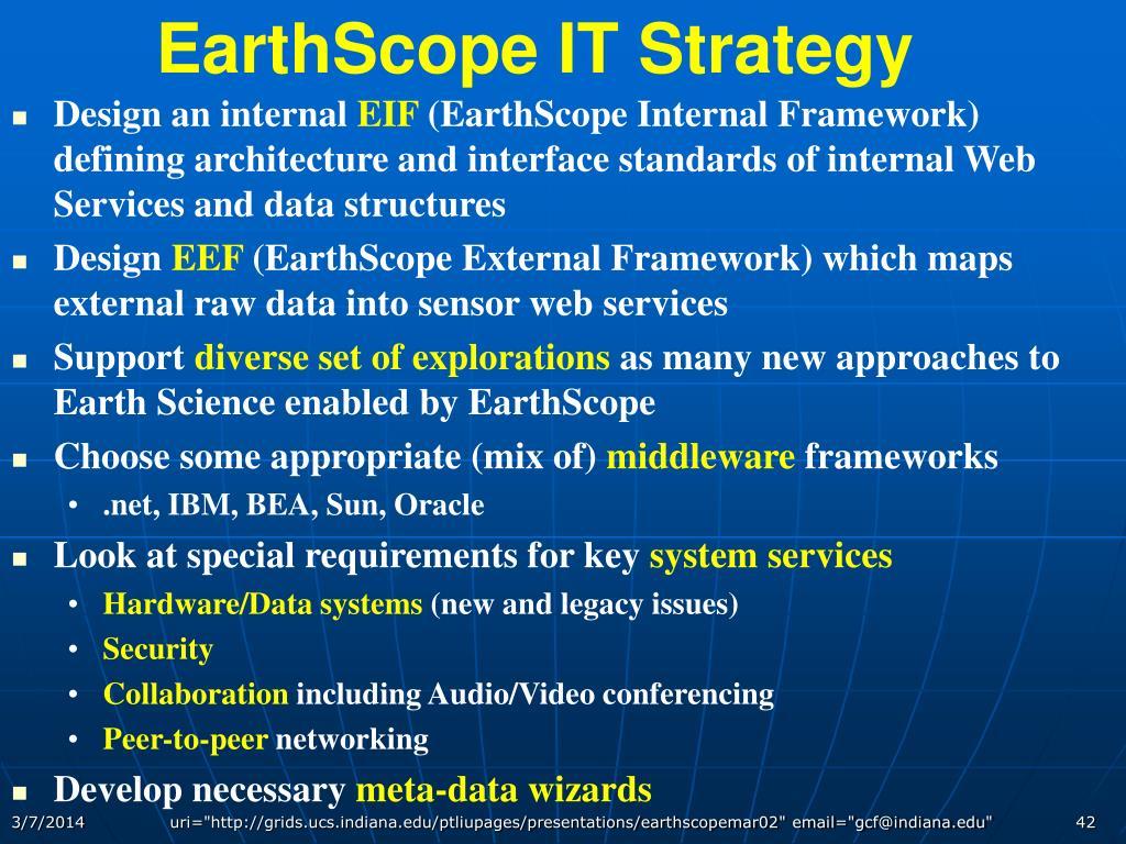 EarthScope IT Strategy