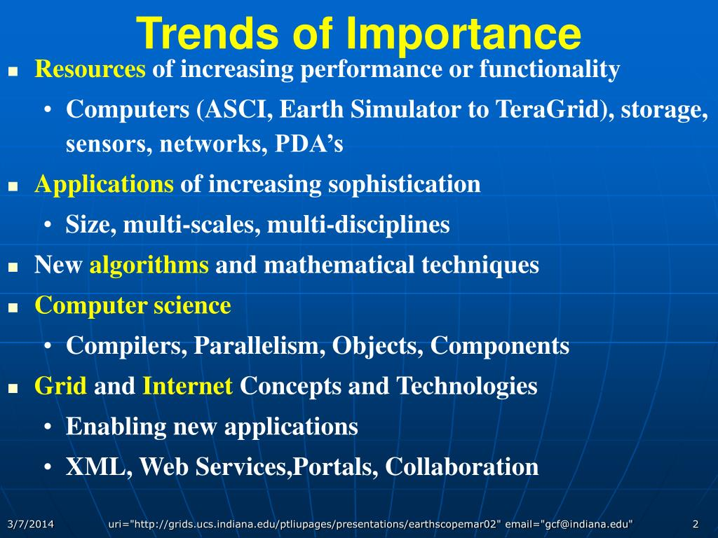 Trends of Importance