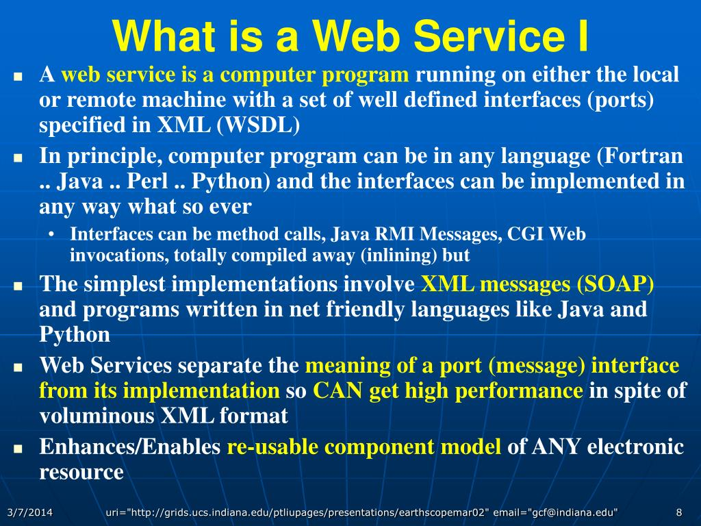 What is a Web Service I