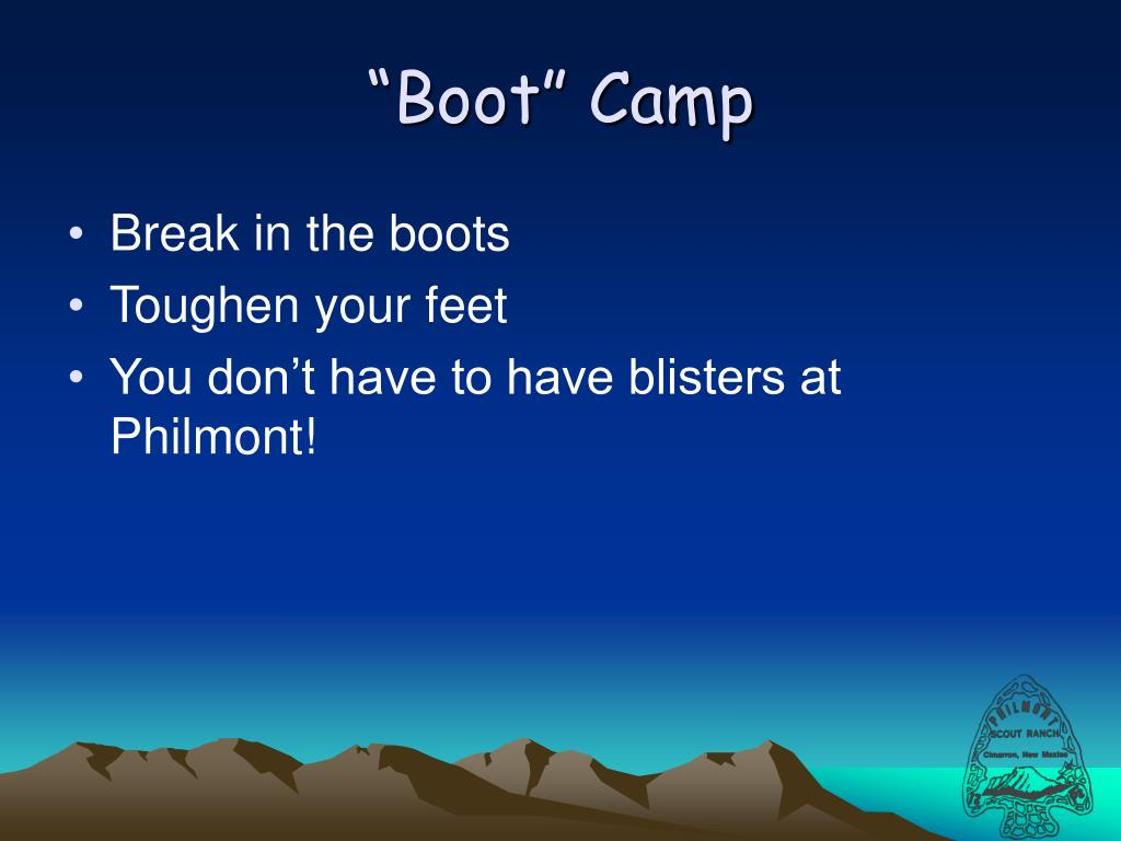 """Boot"" Camp"