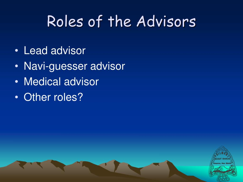 Roles of the Advisors