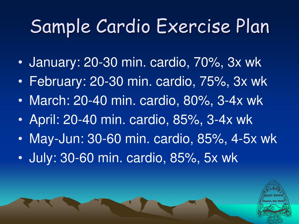 Sample Cardio Exercise Plan