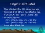 target heart rates