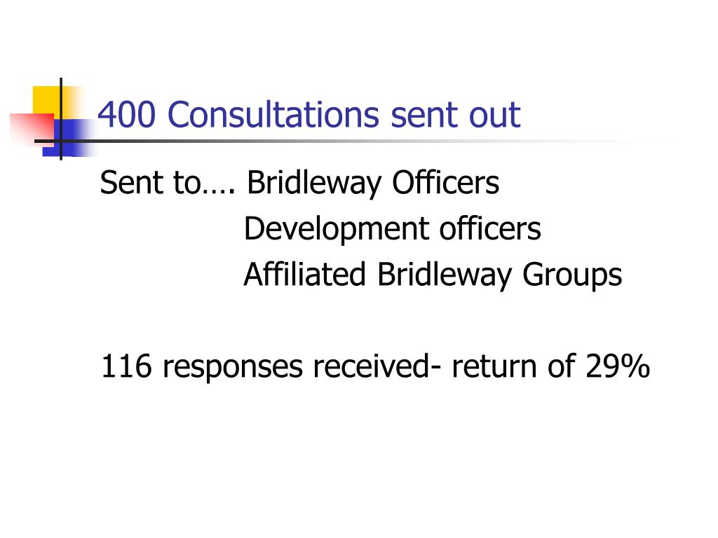 400 Consultations sent out