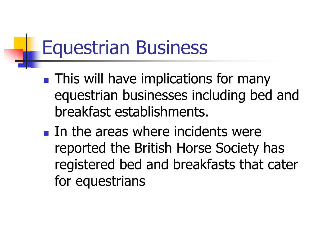 Equestrian Business