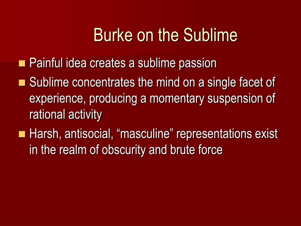 Burke on the Sublime