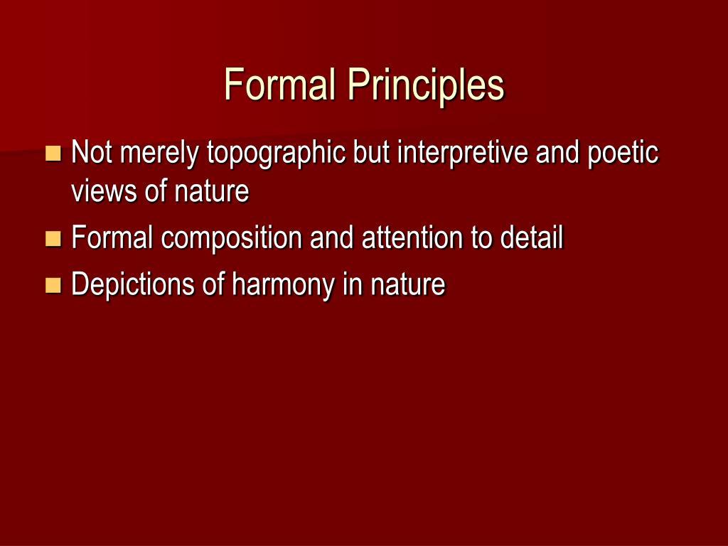 Formal Principles