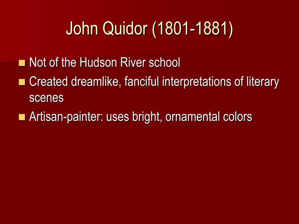 John Quidor (1801-1881)