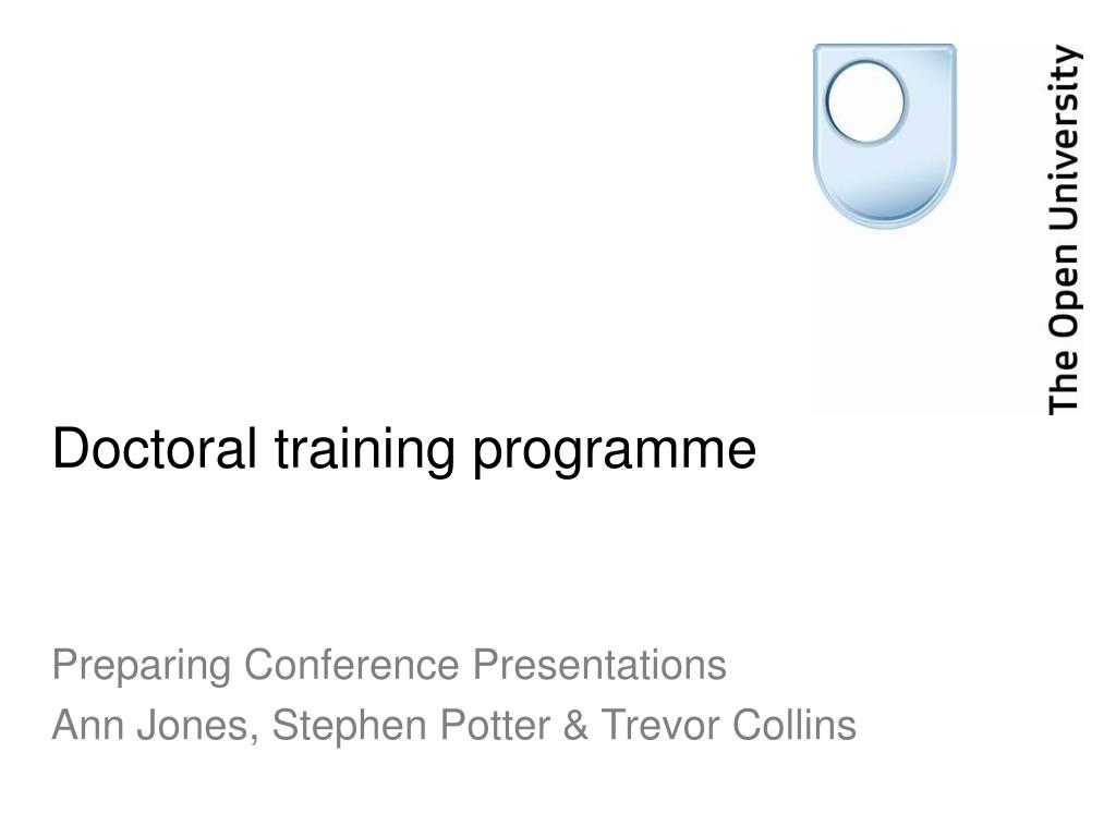 Doctoral training programme