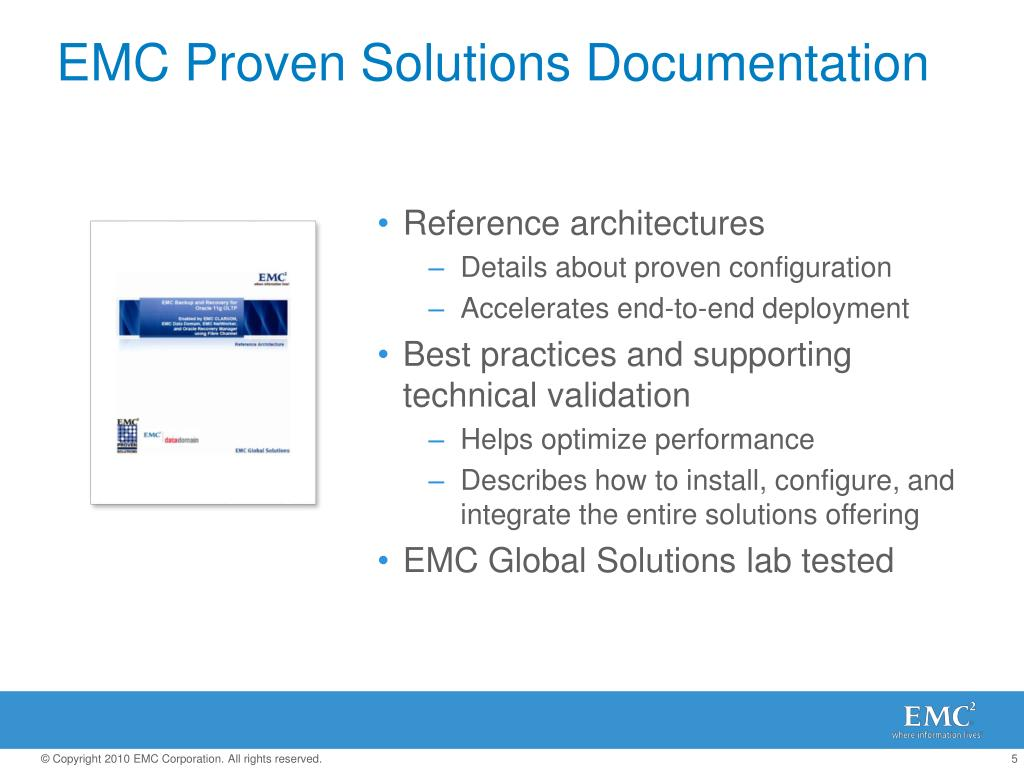 EMC Proven Solutions Documentation