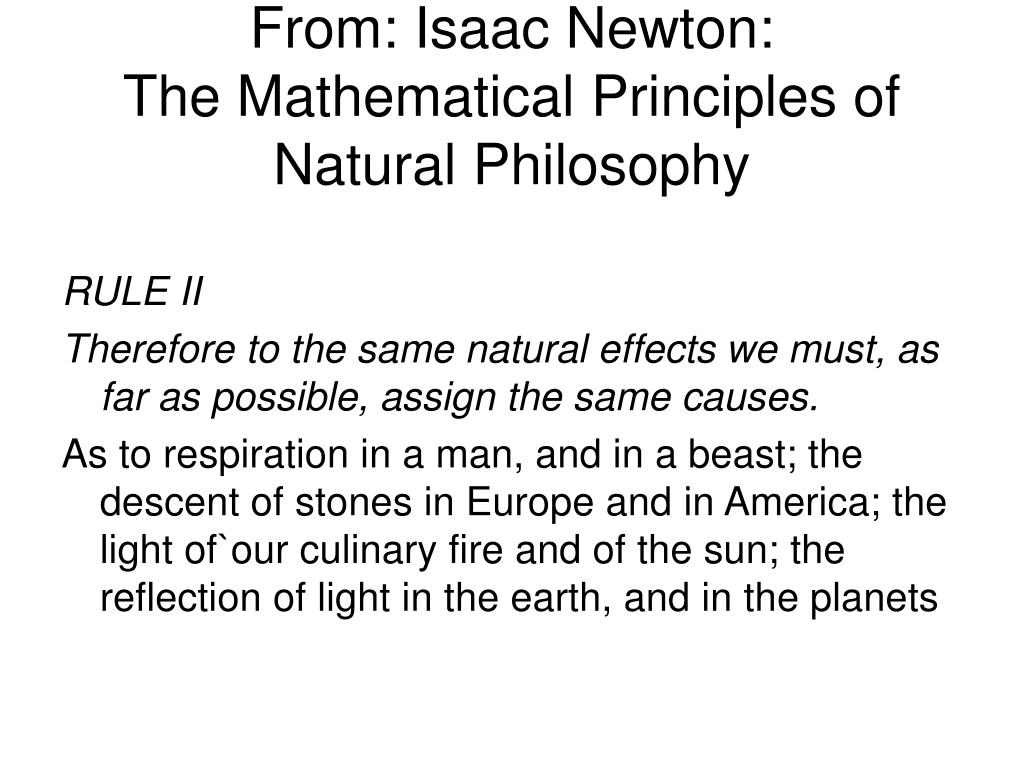 From: Isaac Newton: