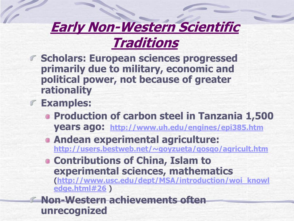 Early Non-Western Scientific Traditions