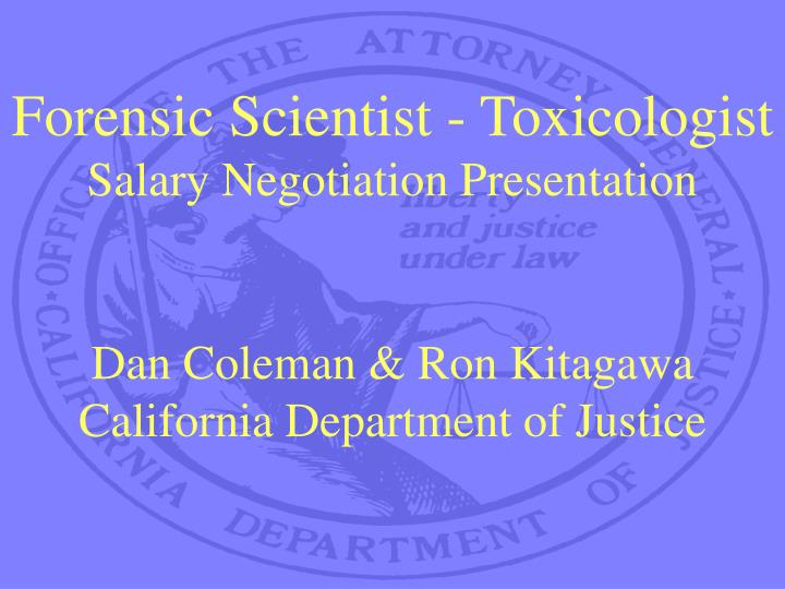 Forensic Scientist - Toxicologist