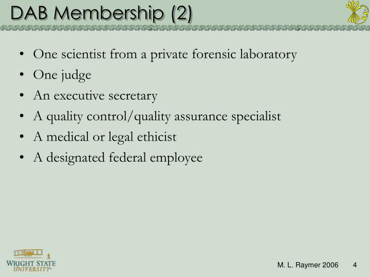 DAB Membership (2)