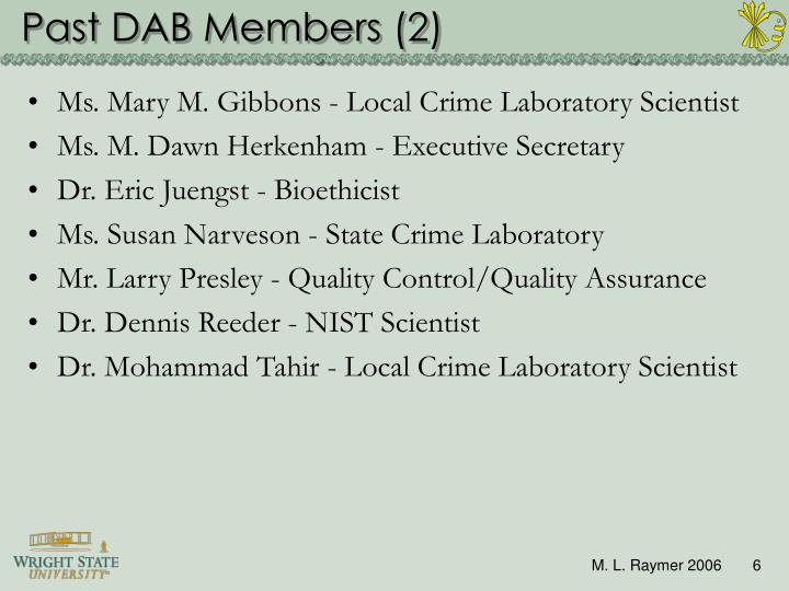Past DAB Members (2)