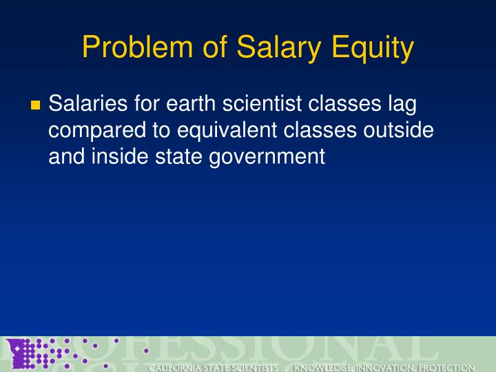 Problem of Salary Equity