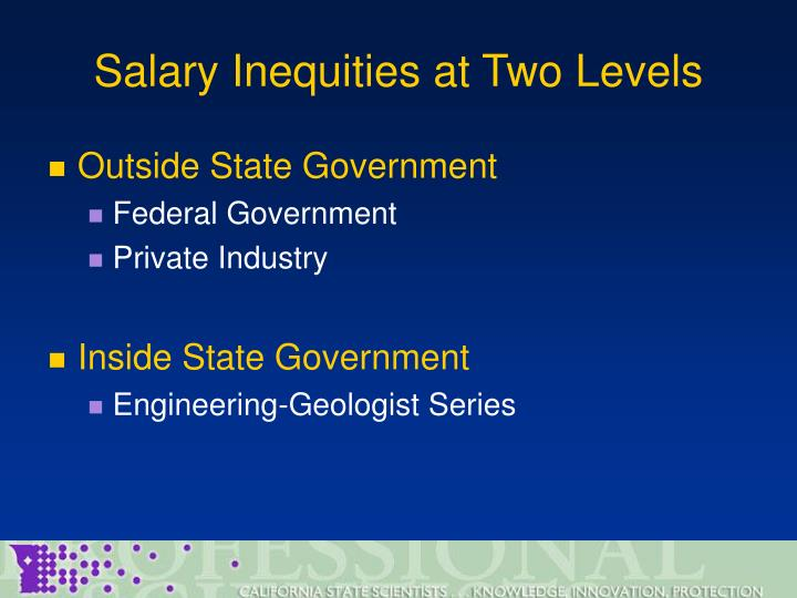 Salary Inequities at Two Levels